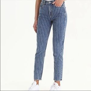 American Eagle Outfitters Striped Mom Jeans
